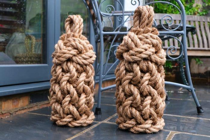 Lighthouse tall handmade rope door stops