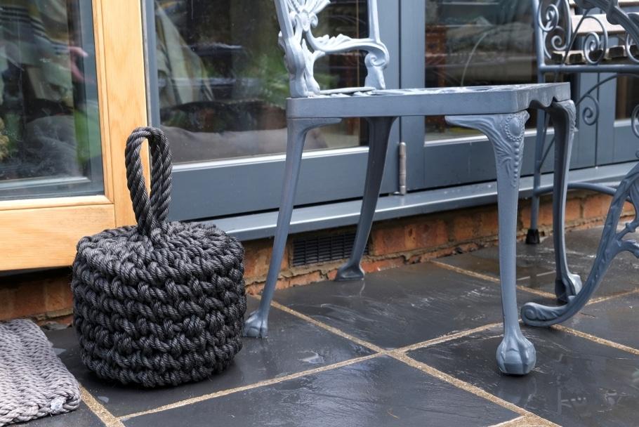 charcoal black heavy buoy door stop