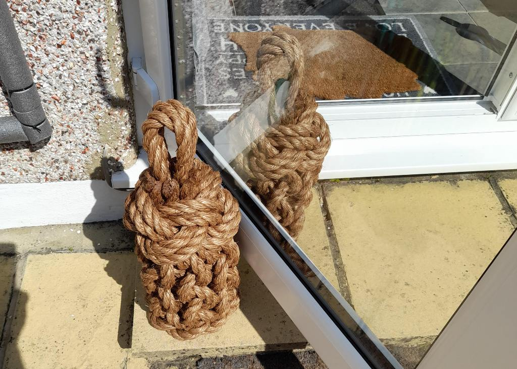 french door doorstops open