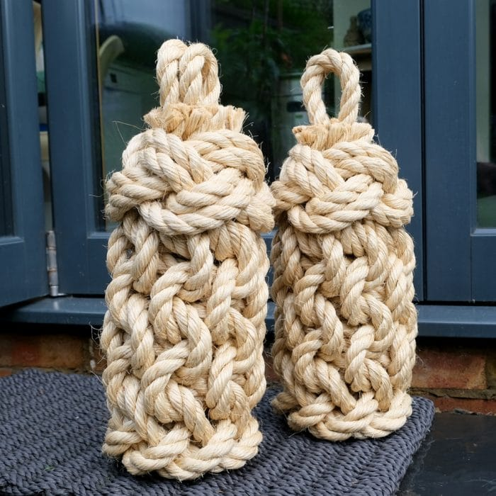 Pair of Sisal Rope Tall Lighthouse door stops